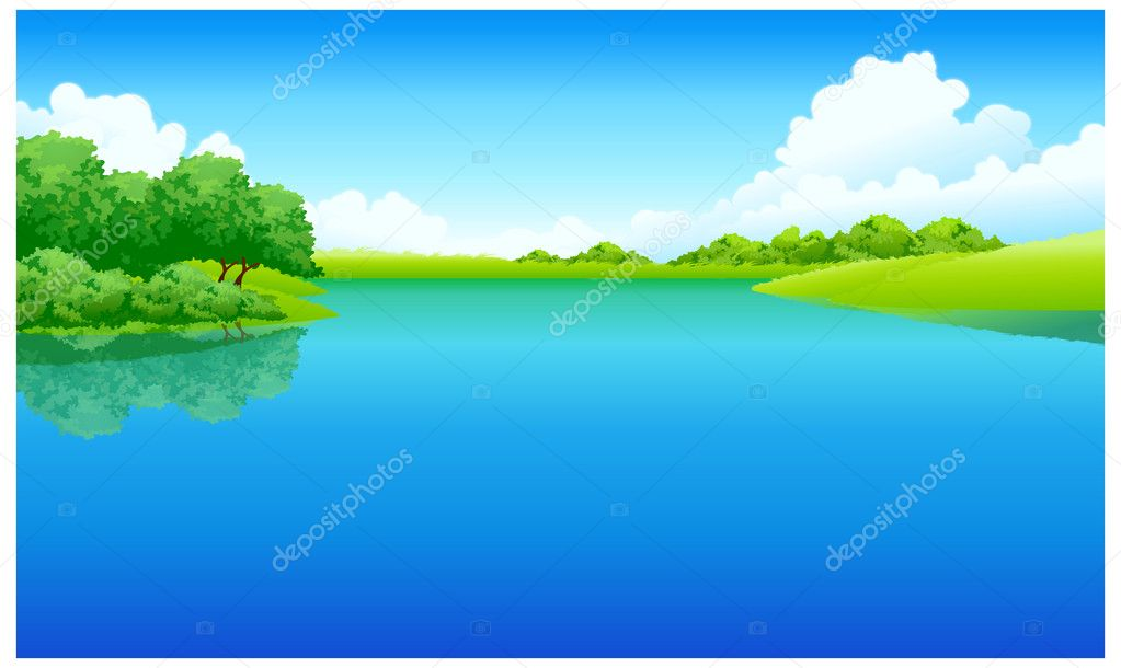 Lake and green landscape
