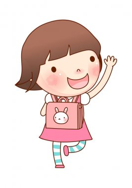 Portrait of girl with school bag