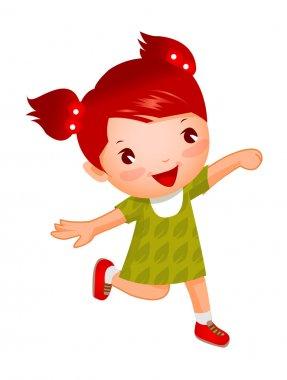 Cute girl running