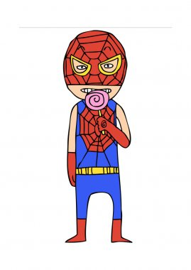 Spiderman eat candy