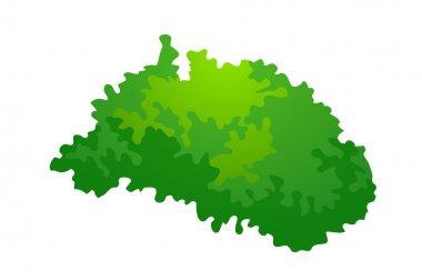 Vector icon bush