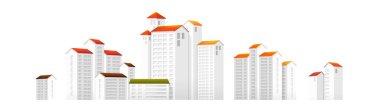 Vector icon apartment building