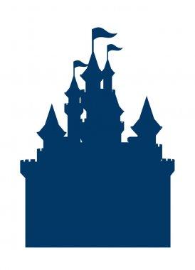 Vector icon castle silhouette