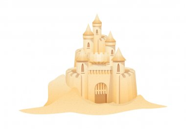Vector icon sand castle