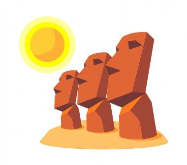 Vector icon moai