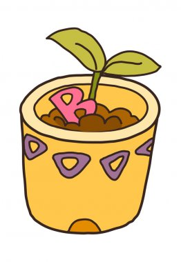 The potted plant
