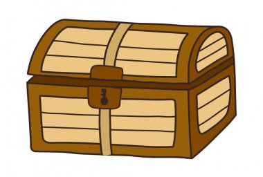 Vector, treasure chest on a white background stock vector
