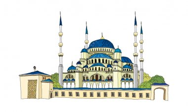 Blue mosque istambul Vector Illustration