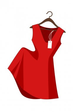 Vector Red Dress