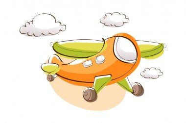Cartoon airplane.Vector illustration. stock vector