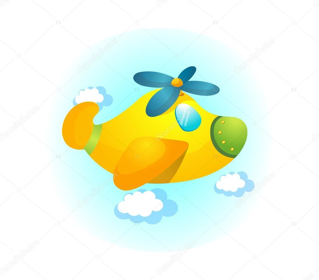 cartoon airplane u2014 stock vector zzve 13468651