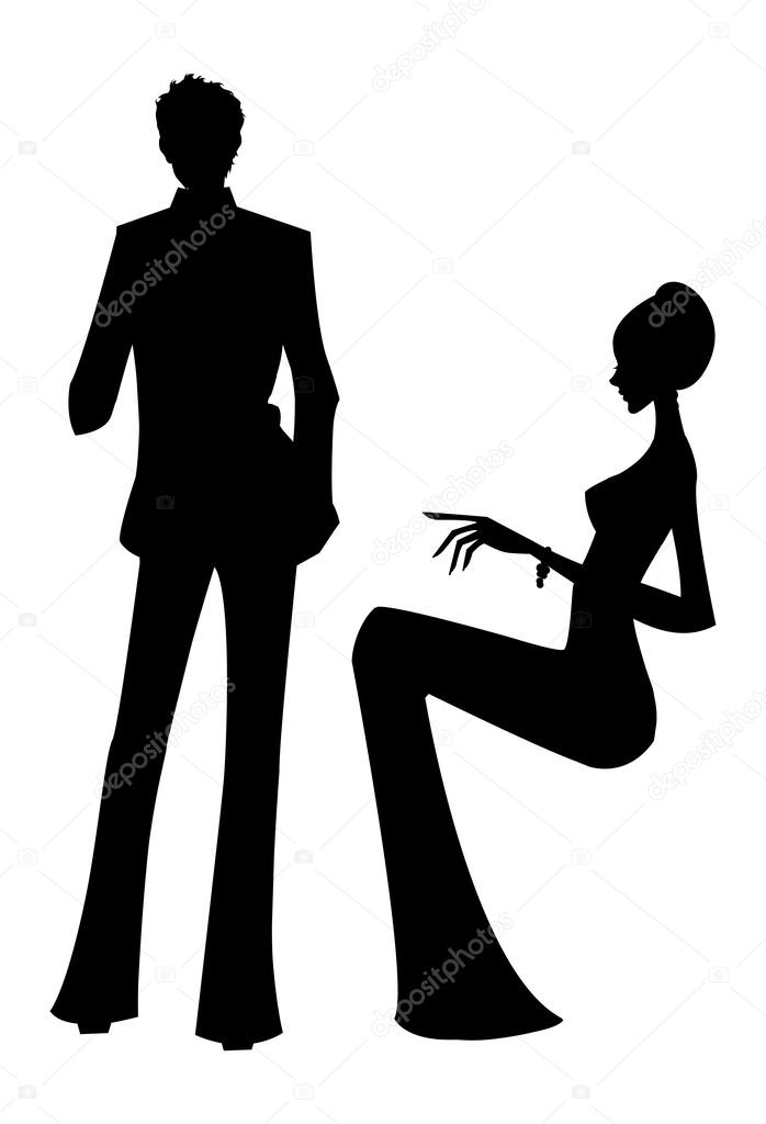 man and woman silhouette stock vector c zzve 45601581 https depositphotos com 45601581 stock illustration man and woman silhouette html