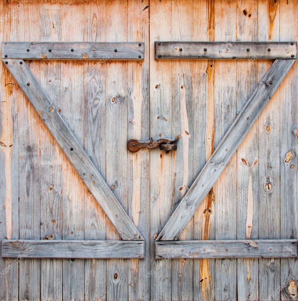 detalle de la puerta de granero de madera — Foto de stock ...