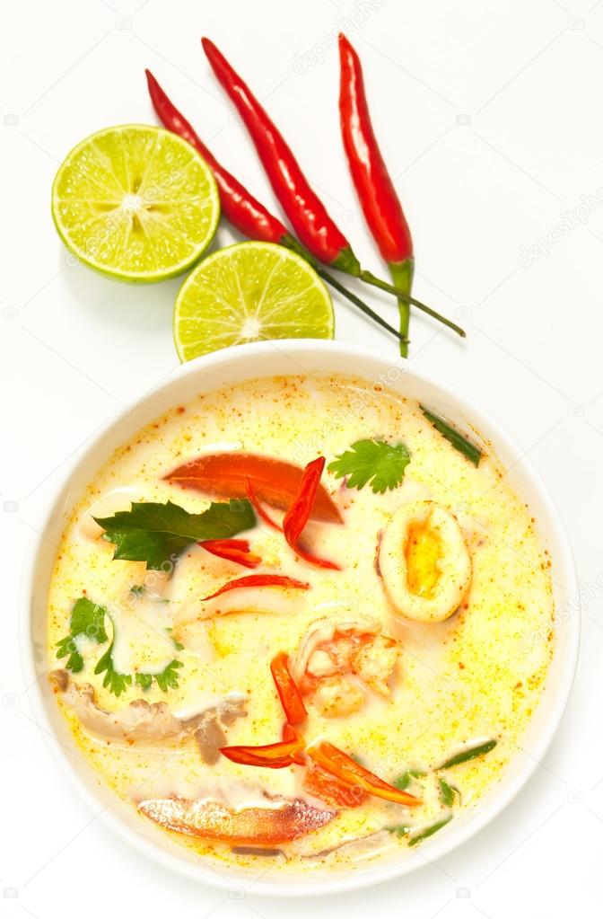 Tom Yum,Thai style spicy soup
