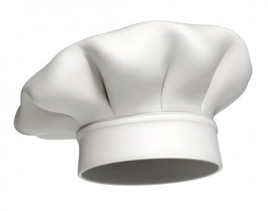 Photorealistic vector illustration of a modern white chef hat stock vector