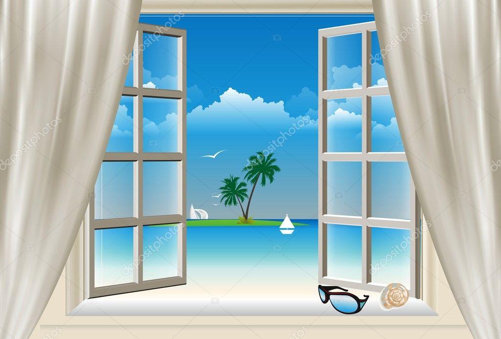 The window,