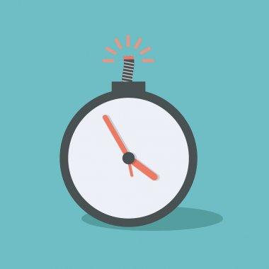 Time bomb. concept vector design