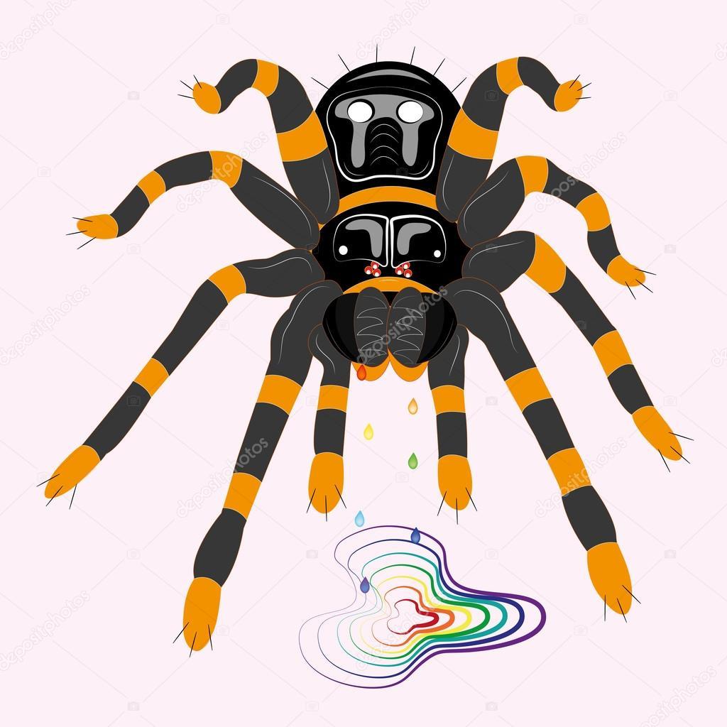 tarántula araña venenosa — Archivo Imágenes Vectoriales © Rimmolki ...