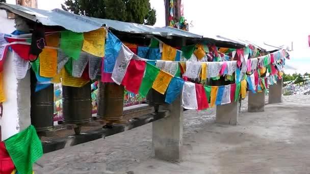 In Tibetan monastery. Shangri-la. China.