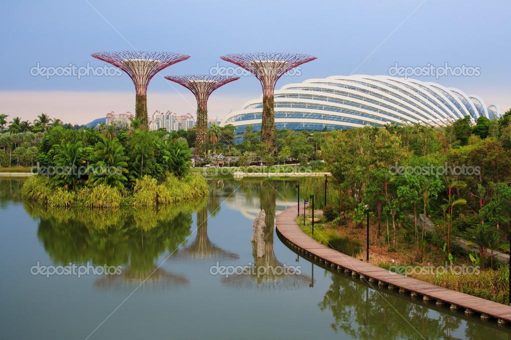 Magische Gärten Singapur Redaktionelles Stockfoto Tvorecxtra