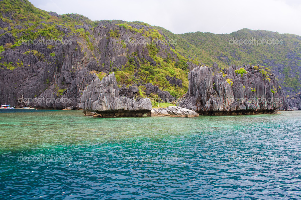 Landscape Of El Nido Palawan Island Philippines Stock