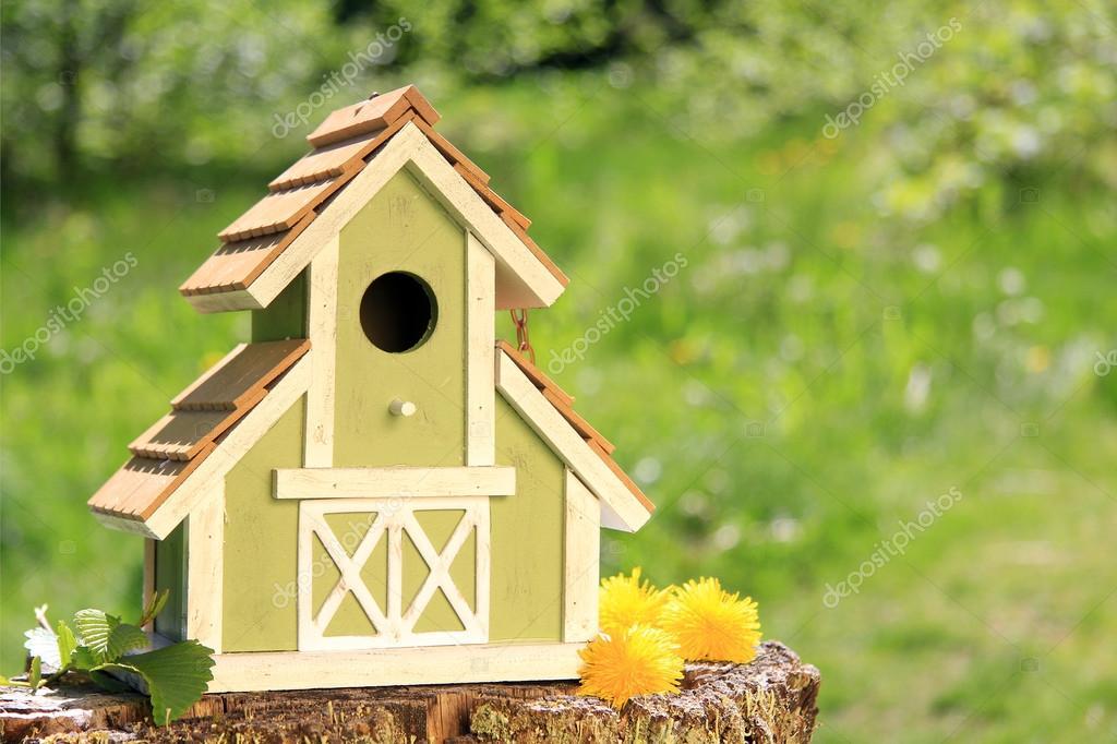 Nidal casas de pájaros que anidan casa birdhouse caja nido caja de aves Tit.