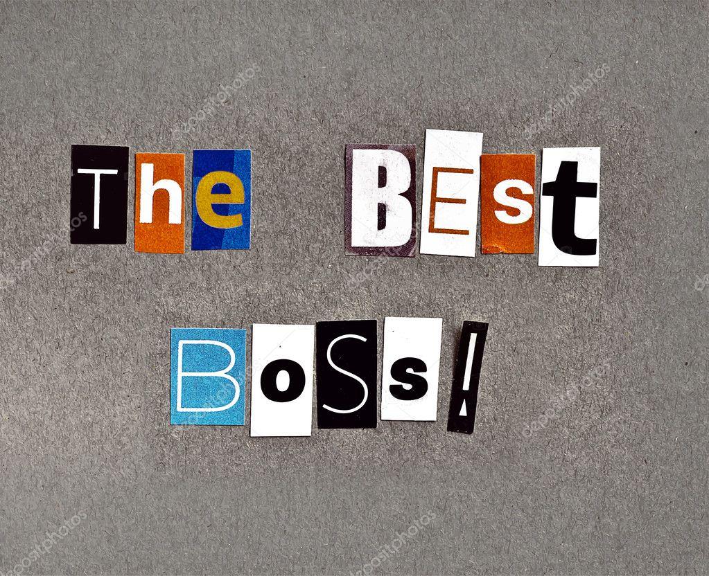 Handmade greeting. Best boss