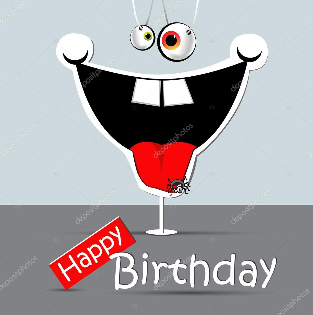 Happy birthday funny card smile spider stock vector novkota1 happy birthday funny card smile spider stock vector bookmarktalkfo Image collections