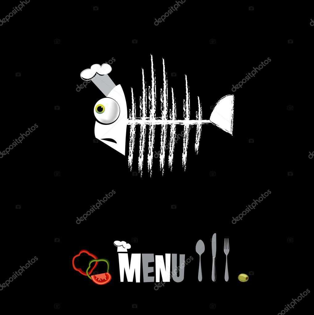Menu restaurant in black