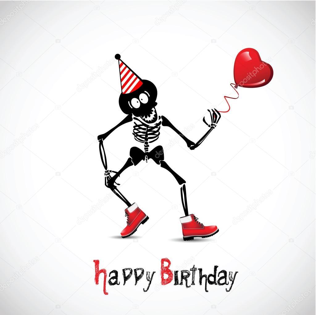 , день рождения страшные открытки