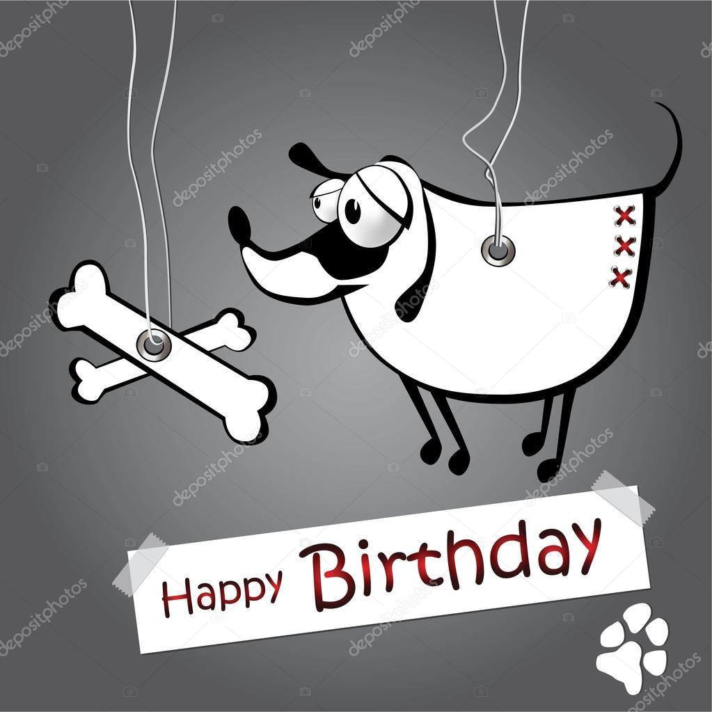 Alles Gute Zum Geburtstag Lustige Karte Hund In Den Seilen Hangen