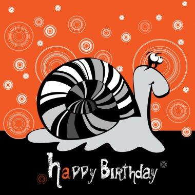 Happy Birthday snail smiling