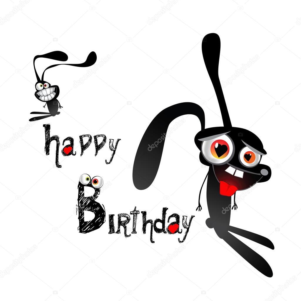 Alles Gute Zum Geburtstag Lustige Hasen Stockvektor C Novkota1