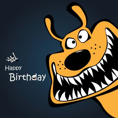 Happy Birthday dog card clip art vector