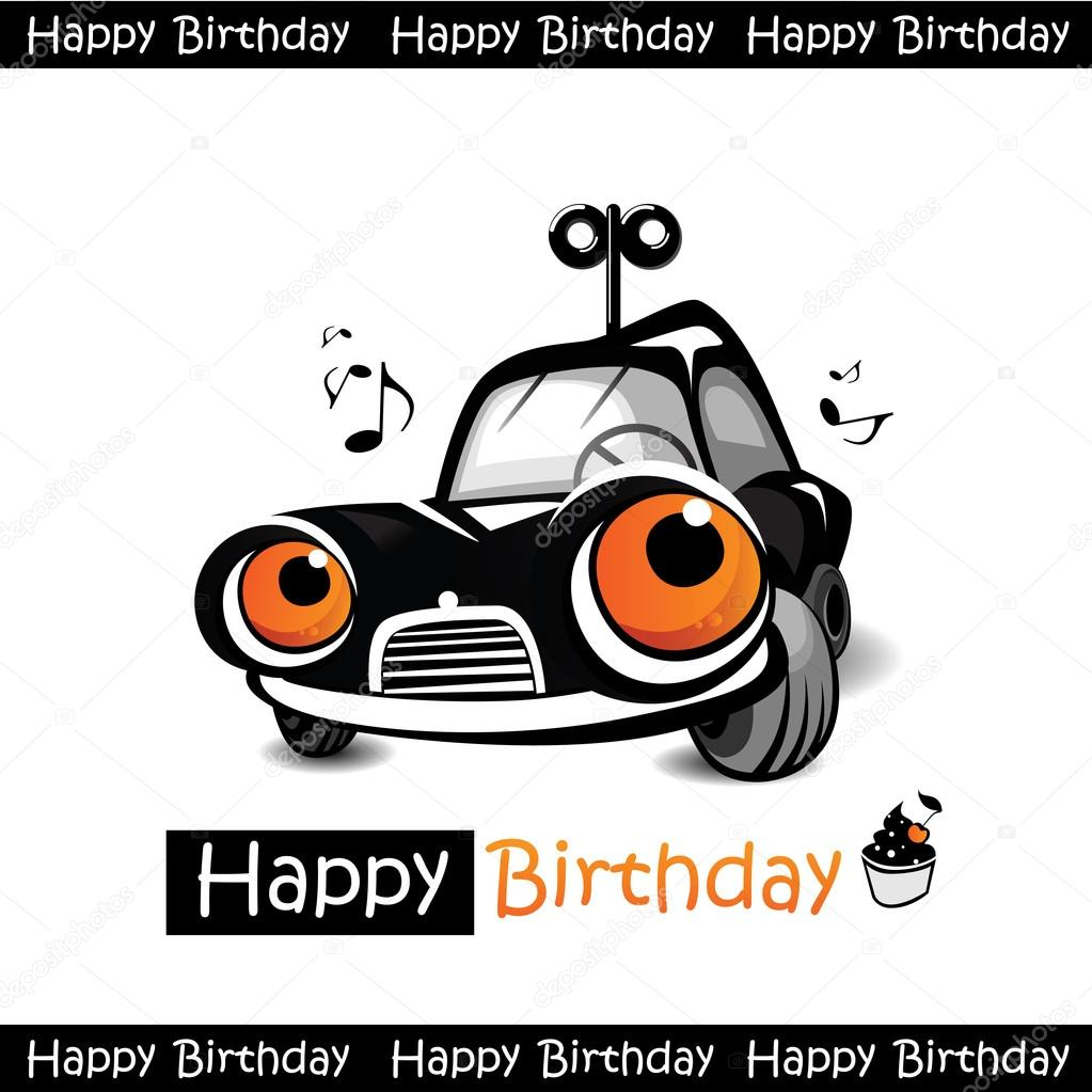 Happy Birthday Car Stock Vector