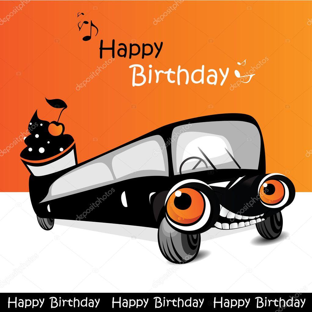 Alles Gute Zum Geburtstag Auto Frohlich Stockvektor C Novkota1