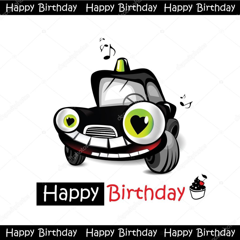 autós születésnapi köszöntő Boldog születésnapot autó mosoly — Stock Vektor © novkota1 #36899359 autós születésnapi köszöntő