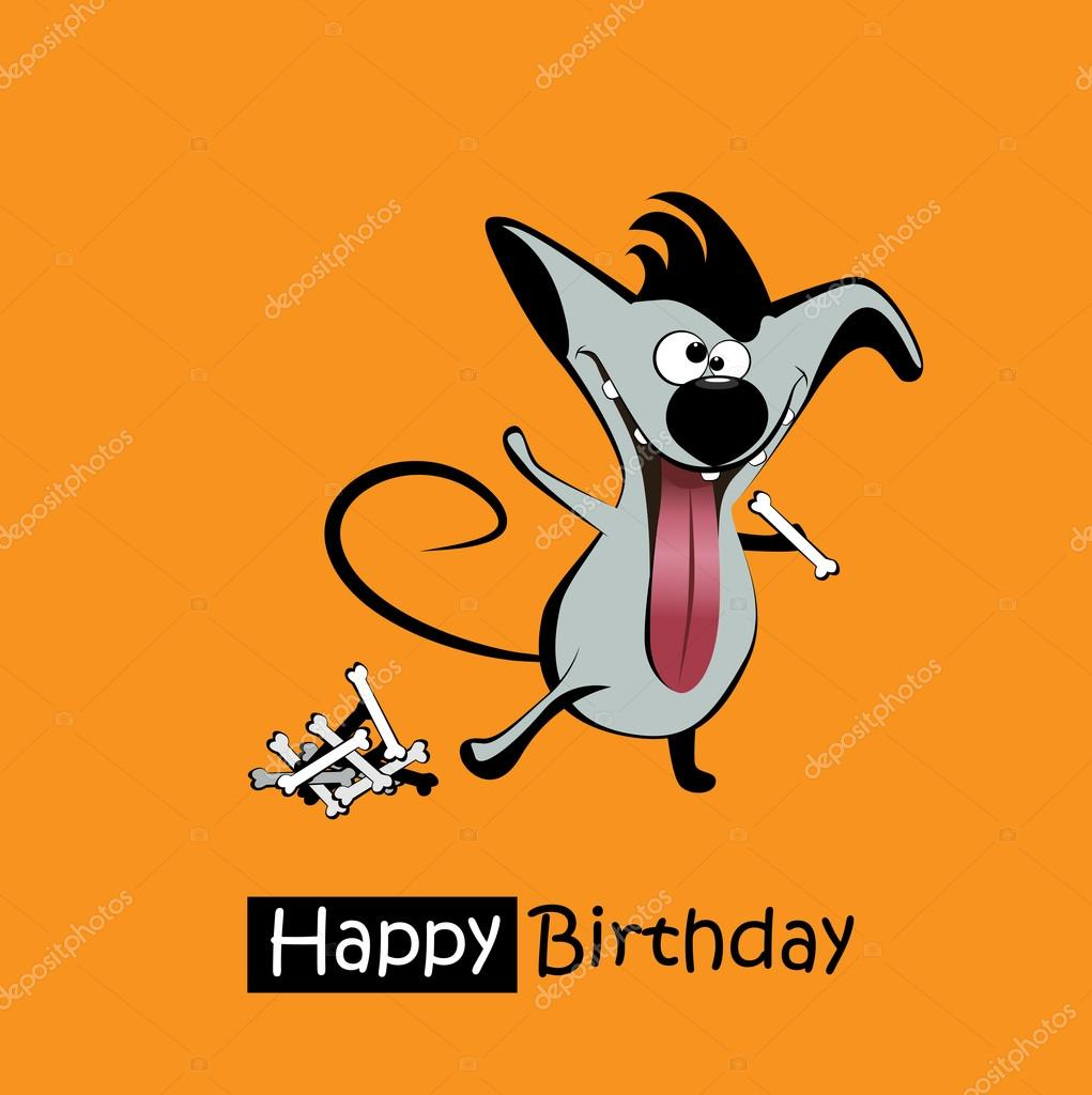 Happy Birthday Smile Dogs Card Stock Vector