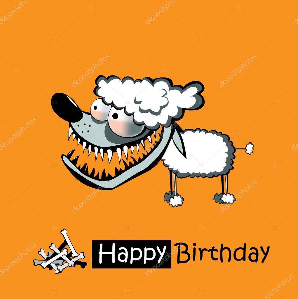 Alles Gute Zum Geburtstag Lächeln Pudel Hund Stockvektor