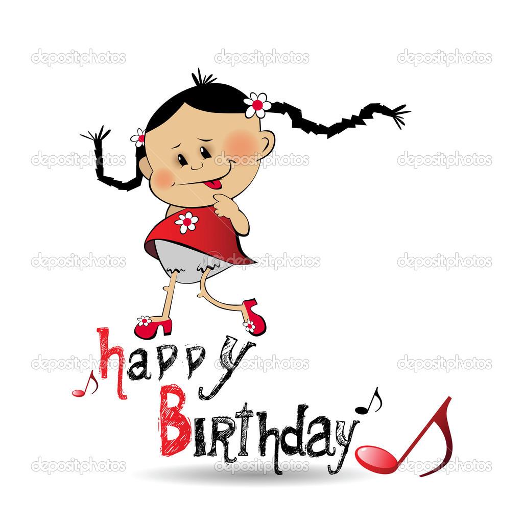 hudba k narozeninám Všechno nejlepší k narozeninám úsměv hudba — Stock Vektor  hudba k narozeninám