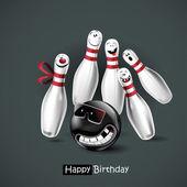 Šťastné narozeniny úsměv bowling