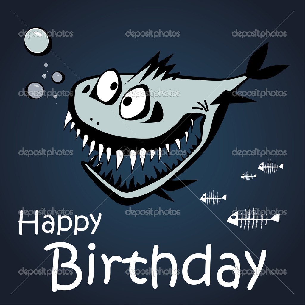 Открытки с днем рождения рыбе
