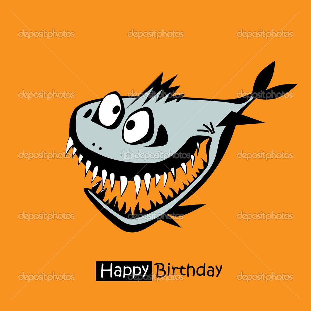 Happy birthday smile fish card stock vector novkota1 41953485 happy birthday smile fish card stock vector bookmarktalkfo Gallery