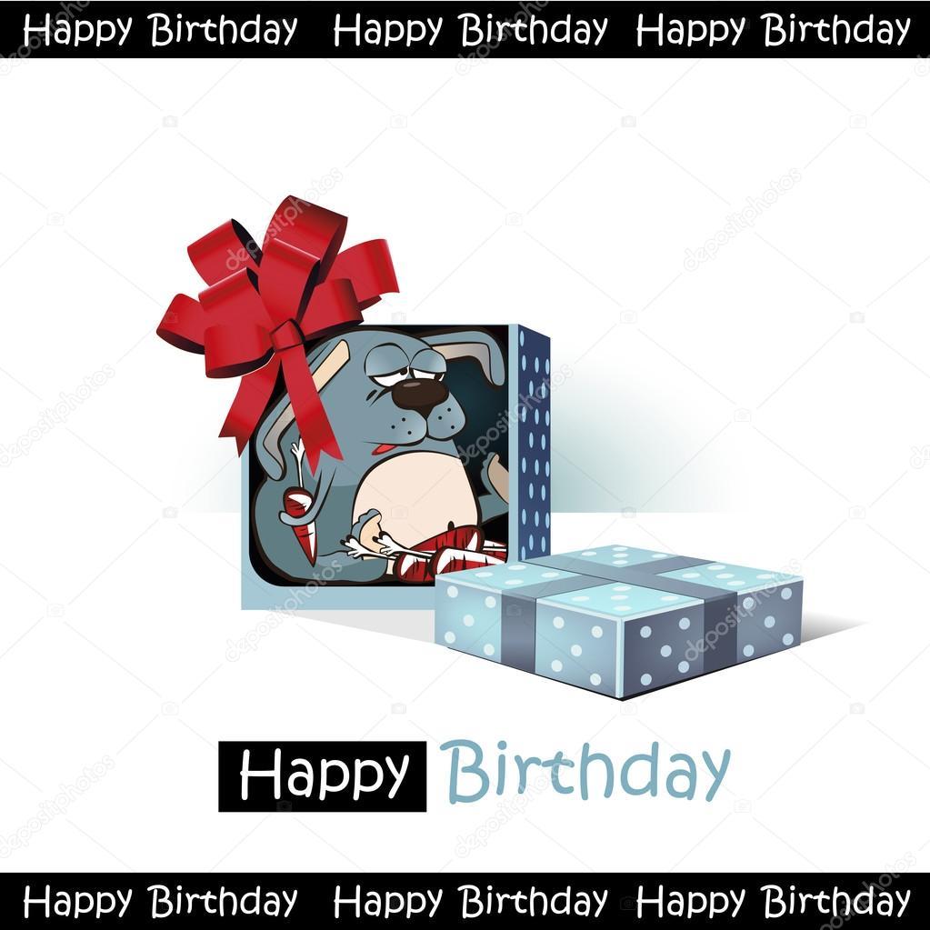 Alles Gute Zum Geburtstag Lacheln Geschenk Hase Lustig Stockvektor