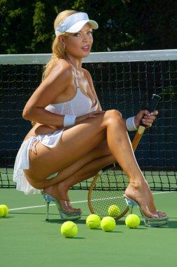 Sexy tennis girl