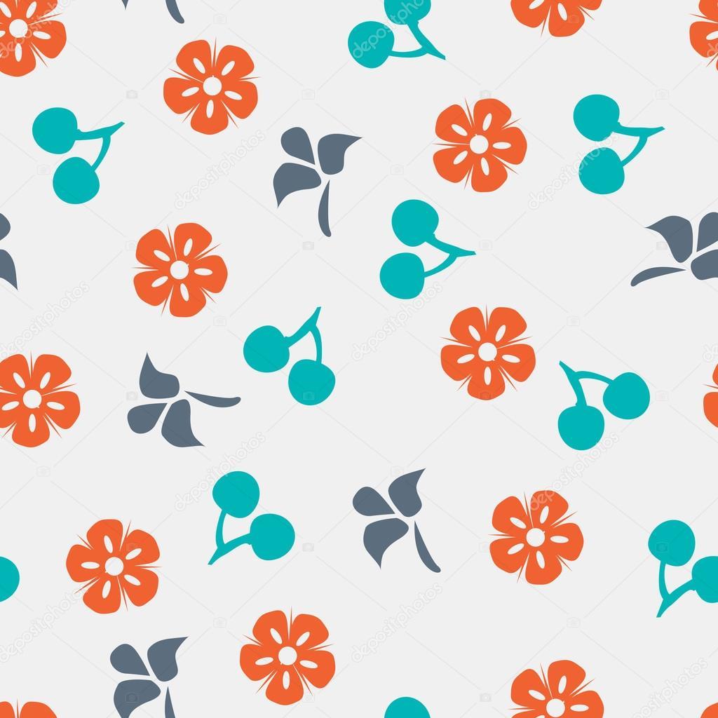 Summer vector seamless pattern