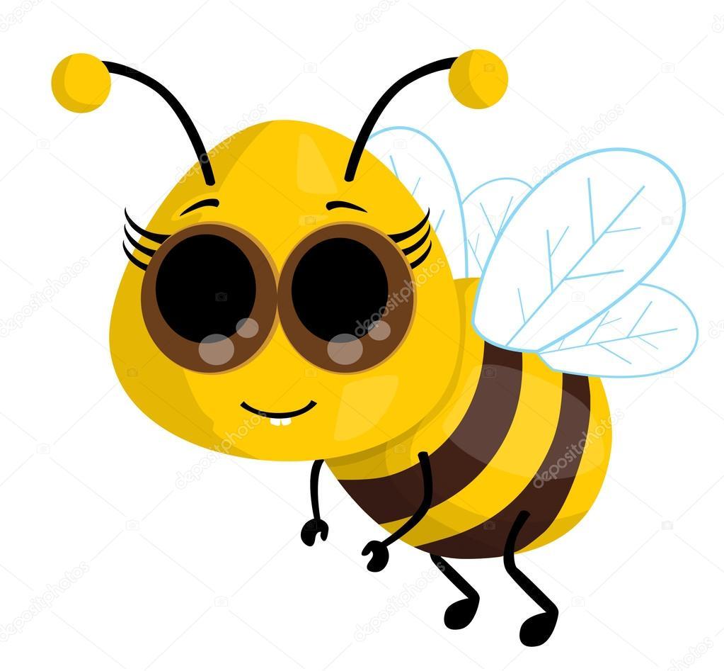 cute cartoon bee u2014 stock vector robin2b 26121491