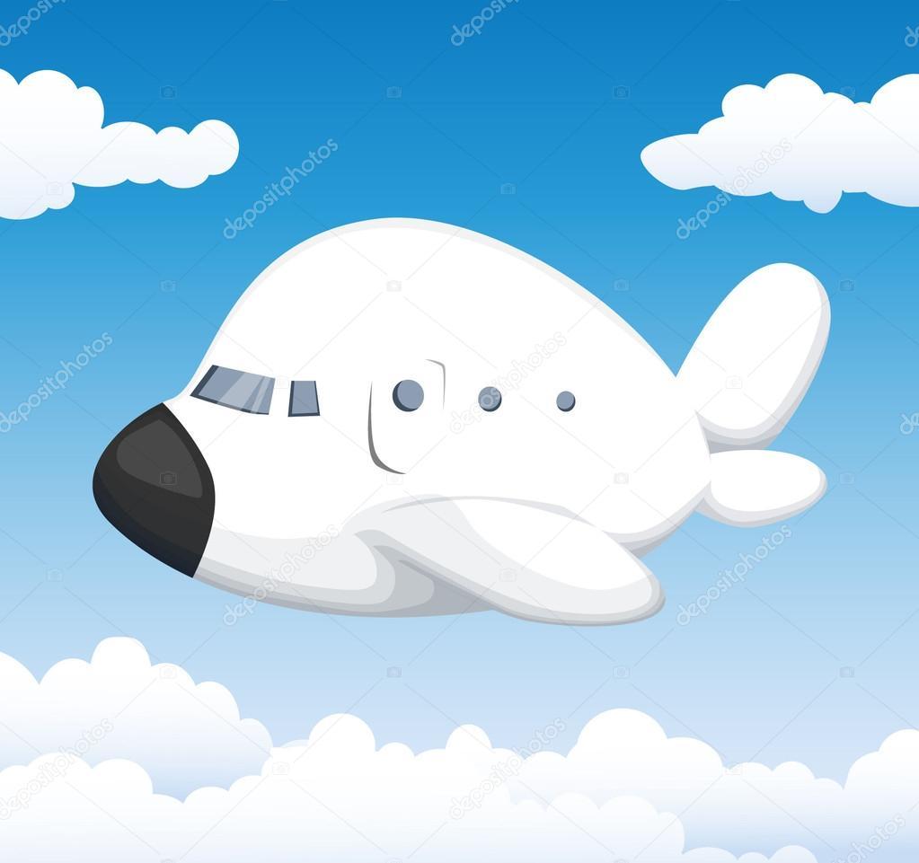 Aeroplano di cartone animato carino u2014 vettoriali stock © robin2b