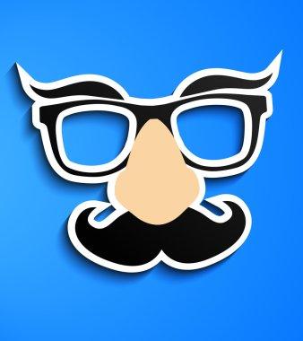 Mustache glasses eyebrows