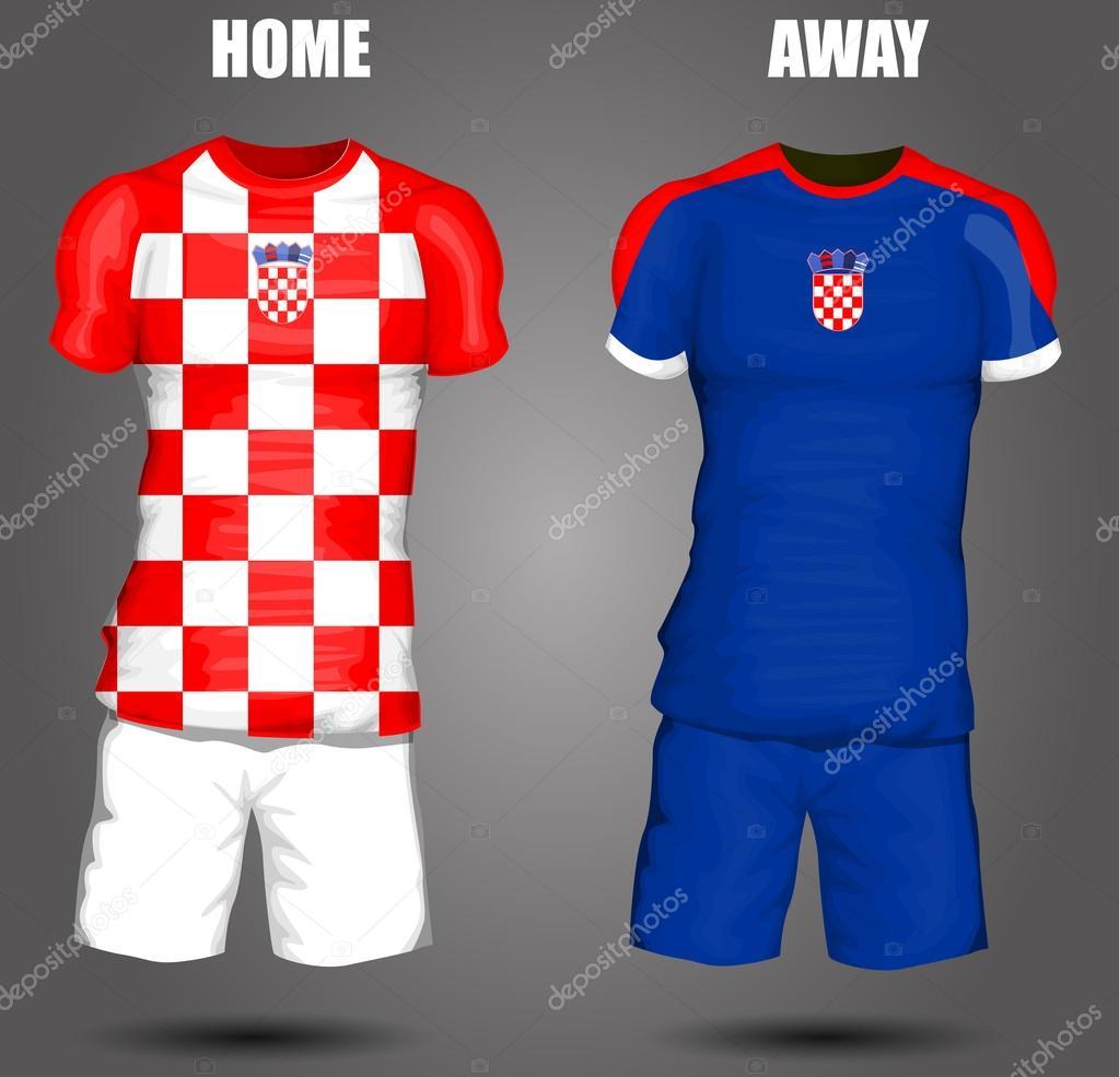8d567d864e0a2 camiseta de fútbol de Croacia — Archivo Imágenes Vectoriales ...